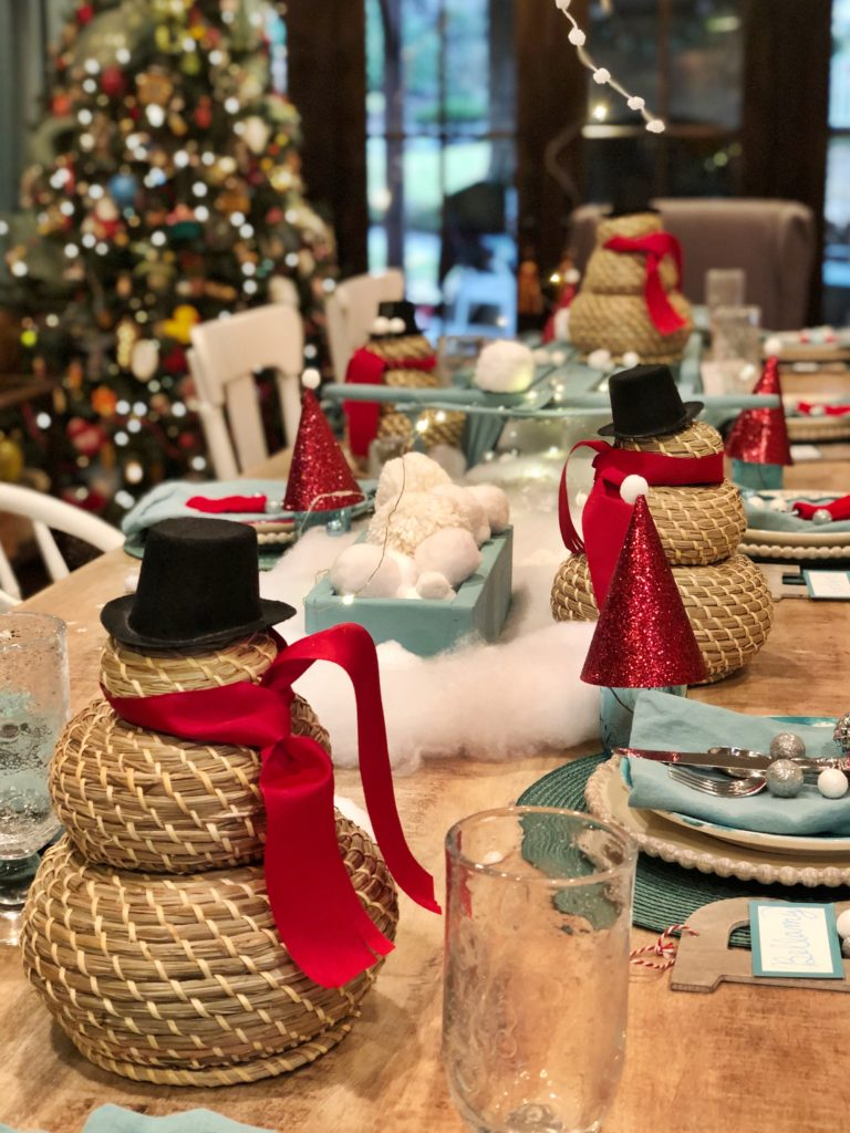 party table for snowball brunch