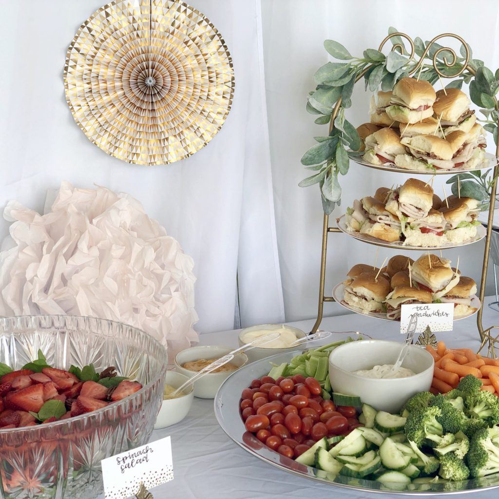 sweet 16 party food table