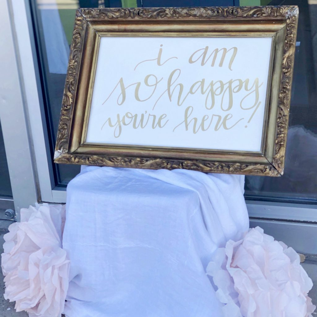 Sweet 16 party sign